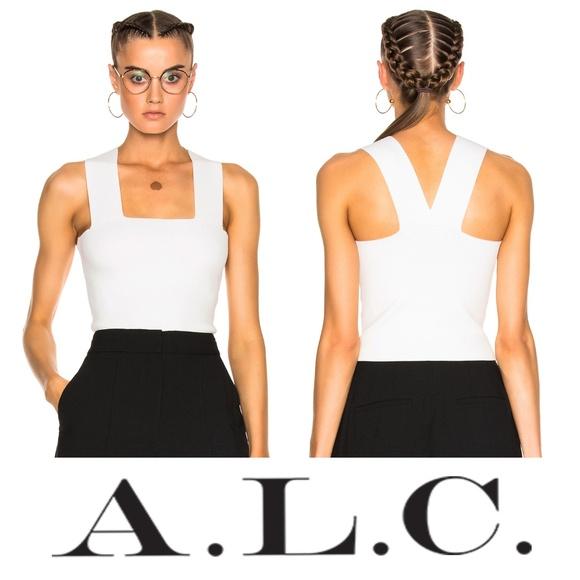bd2dec528d1cee A.L.C. Tops   Alc Lia Knit Crop Top White Ali Variant   Poshmark